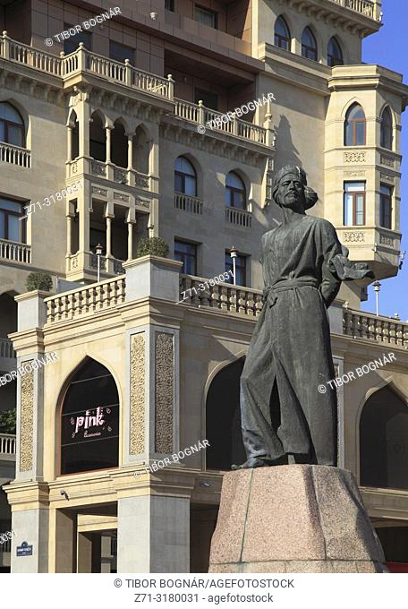 Azerbaijan, Baku, Nizami Street, Nasimi Monument,