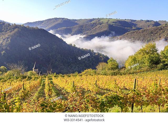 France, Aveyron, Conques, labelled Les Plus Beaux Villages de France (The Most Beautiful Villages of France), stop on El Camino de Santiago