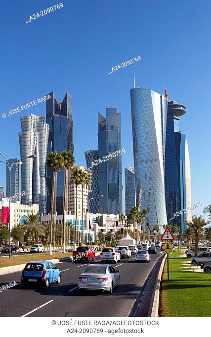 Qatar , Doha City, new Doha Skyline