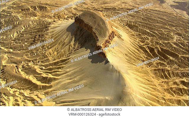 Aerial footage of Mador Hill, Negev Desert