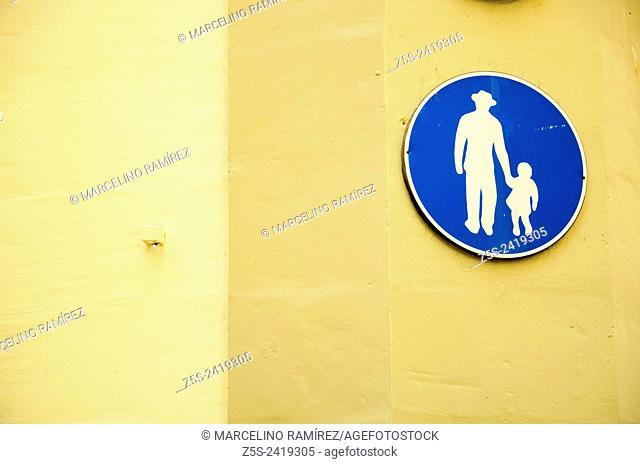 Urban signage. Malta