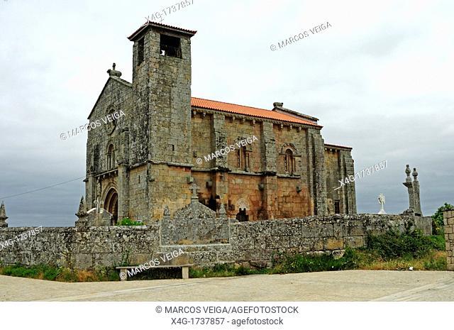 The romanesque church of San Pedro da Mezquita, A Merca, Ourense, Galicia, Spain