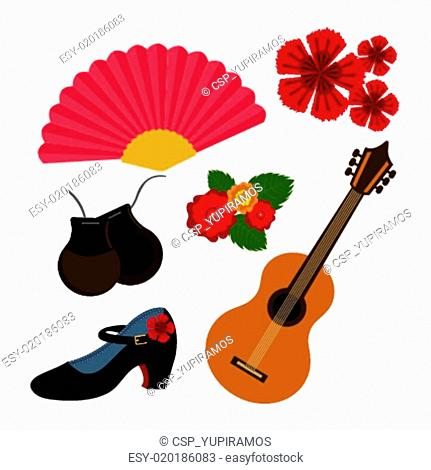 Flamenco design, vector illustration