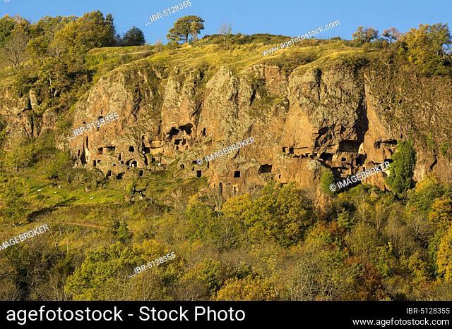 Jonas caves near the village of Saint Pierre Colamine, Puy de Dome department, Auvergne-Rhone-Alpes, france