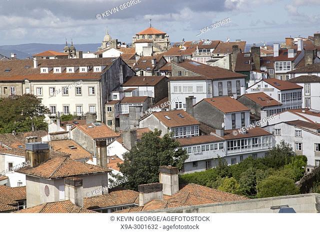 View of City, Santiago de Compostela, Galicia, Spain