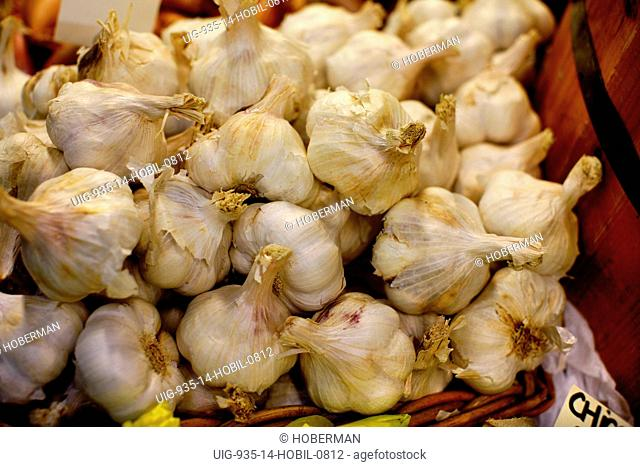 Garlic Bulbs, Burough Market, London