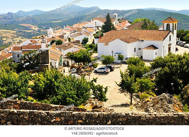 A view of the Town Museum from the castle. Marvão, Alentejo, Portugal