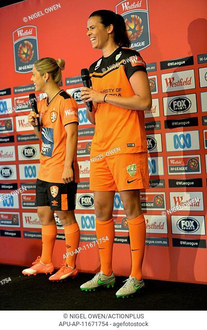 2015 Westfield W-League season launch Sydney Oct 12th. 12.10.2015. Sydney, Australia. Westfield W-League season ( Women's soccer league