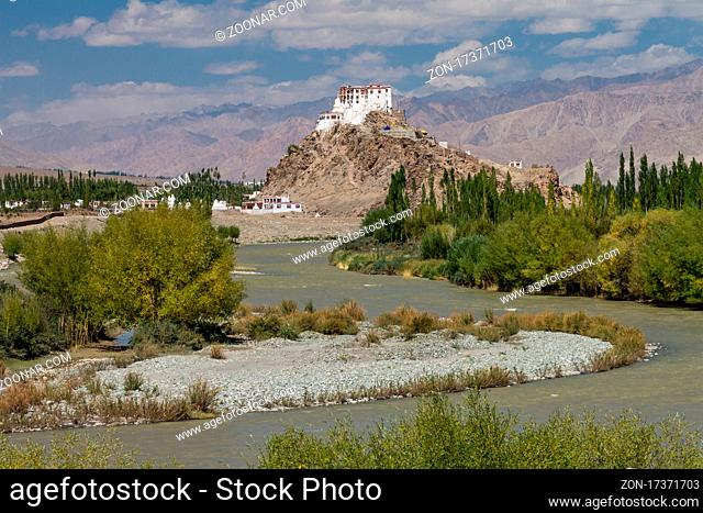 Stakna Gompa ? the Buddhist monastery located on a hill above the Indus River in the central part of Ladakh. Its name means ?tiger?s nose? and refers to the...