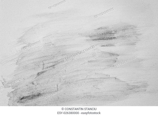 Monochrome abstract water color textured background