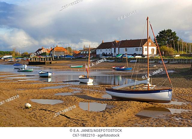 Burnham Overy Staith Norfolk autumn afternoon