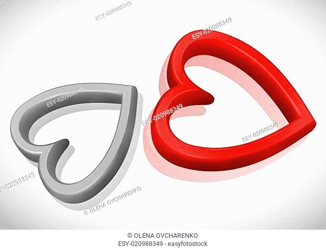 Abstract Concept With Red Hearts
