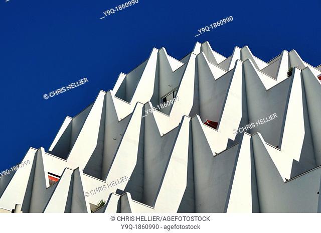 France, Herault, La Grande-Motte, Le Babylone, 1969, Apartment Building by Henri Castella