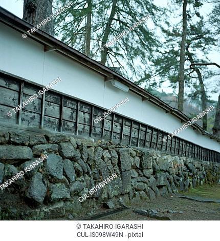 Shrine wall, Fukushima, Japan