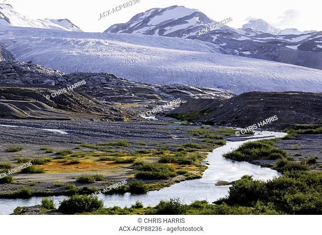 British Columbia, Canada, Chilcotin region, moraine landscape, receeding glacier, Ape Creek, Coast Mountains