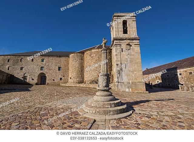 Sanctuary in Pena the Francia, famous destination in Salamanca, Spain