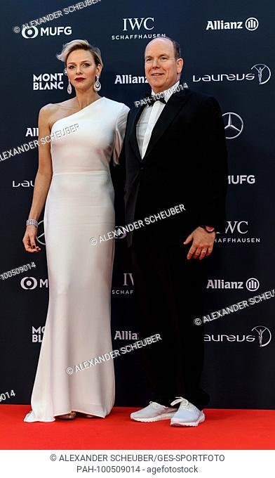 Prince Albert II of Monaco und Princess Charlene of Monaco...GES/ Allgemein/ Laureus World Sports Awards 2018: Preisverleihung, 27.02.2018