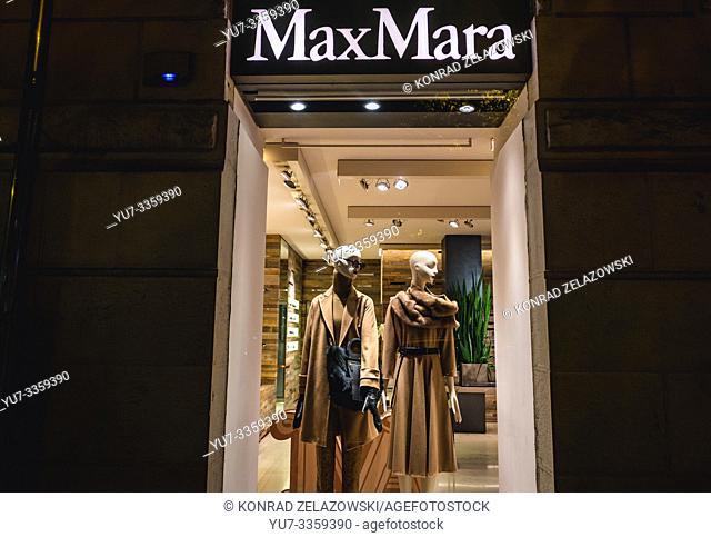 Max Mara shop in Avenida da Liberdade - Avenue of Liberty in Lisbon