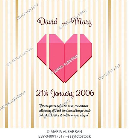Wedding Invitation with abstract background illustration