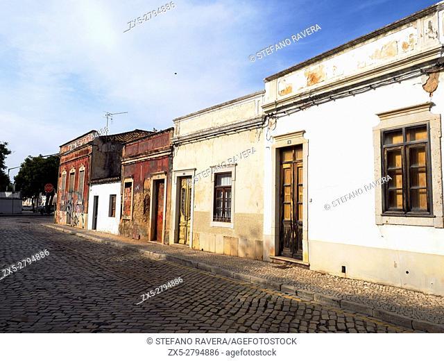 Old house façade in Faro - Algarve region, Portugal
