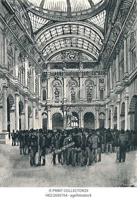 'On Change - Royal Exchange', 1891. Artist: William Luker