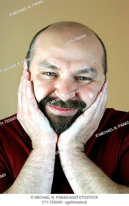 Portrait of russian man smiling in camera