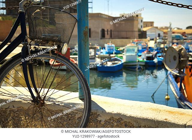 Port of Favignana island near Sicily