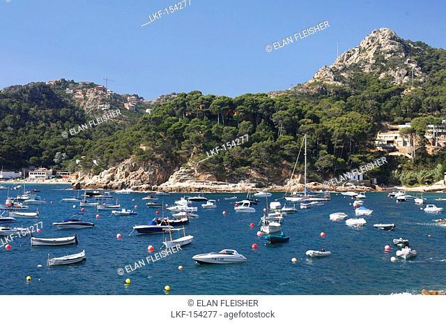 Boats, Aiguablava, Costa Brava, Catalonia, Spain