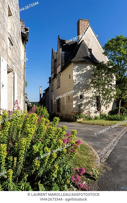 Notable's Houses at Crissay-sur-Manse, Labeled The Most Beautiful Villages of France. Indre-et-Loire, Centre region, Loire valley, France, Europe