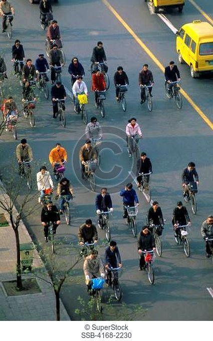 China, Beijing, Traffic, Bicycles
