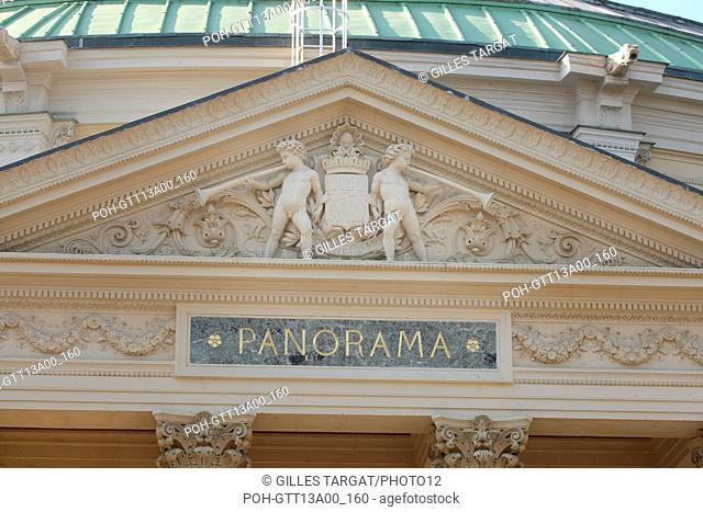 France, ile de france, paris 8e arrondissement, theatre du rond point, arriere du theatre, ancien panorama Date : 2011-2012 Photo Gilles Targat