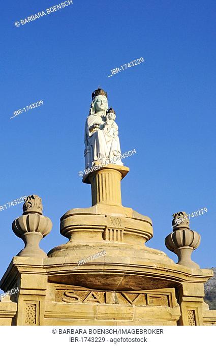 Statue of Mary, Loyola, Azpeitia, Gipuzkoa province, Pais Vasco, Basque Country, Spain, Europe