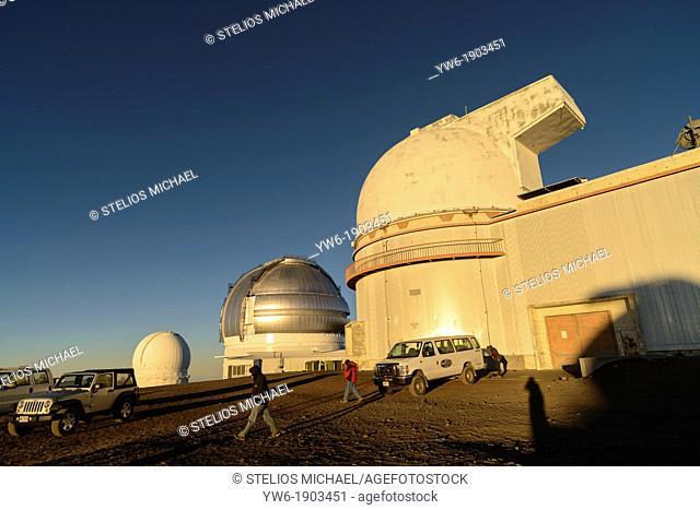 Hawaii-Canada-France, Gemini and UH 2 2 Telescopes on Mauna Kea Volcano, Big Island, Hawaii, USA