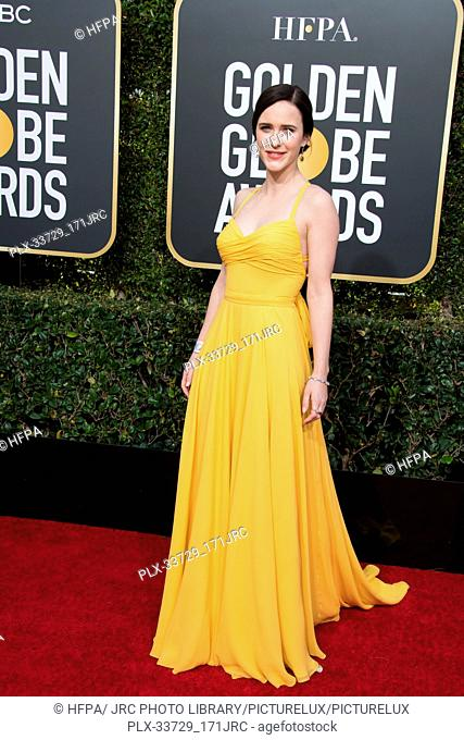 Nominee Rachel Brosnahan attends the 76th Annual Golden Globe Awards at the Beverly Hilton in Beverly Hills, CA on Sunday, January 6, 2019