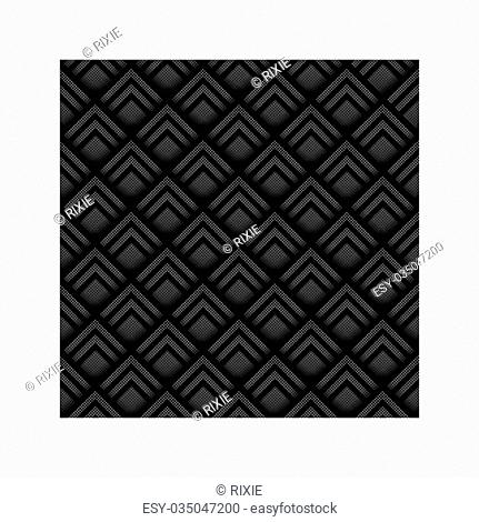 Seamless geometric background made from black and white halftone squares, layered to give a three dimensional effect. EPS10 vector format