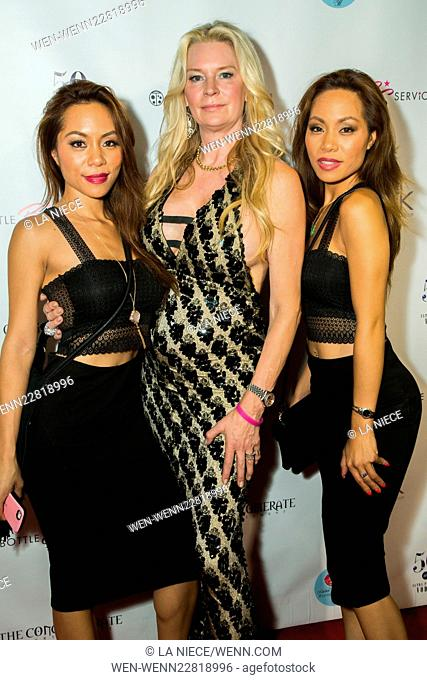Perk Marketing and Busta Rymes pre 2015 MTV awards Party Featuring: Sachika Twins, Jackie Siegel Where: Hollywood, California
