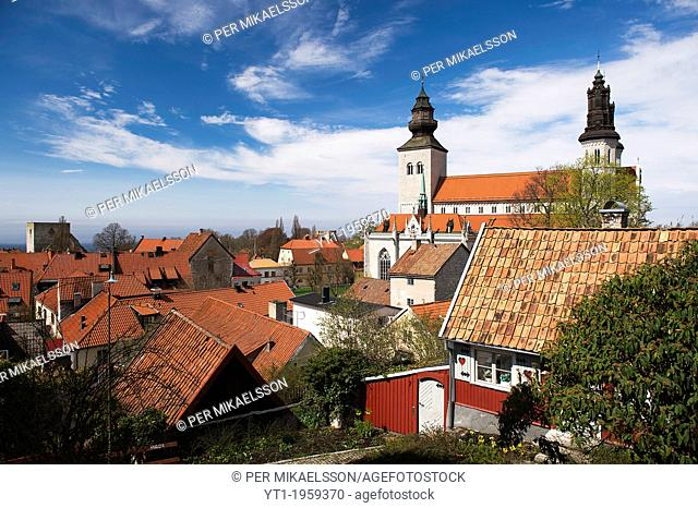 Visby Gotland, sweden, view over the dome