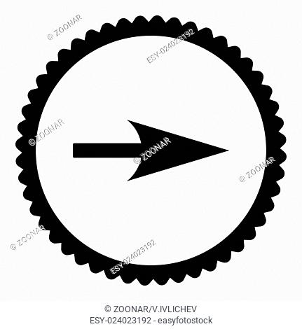 Arrow Axis X flat black color round stamp icon