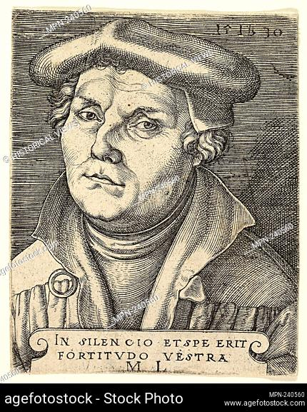Portrait of Martin Luther - 1530 - Master I.B. German, died 1525/30 - Artist: Master I.B., Origin: Germany, Date: 1530, Medium: Engraving in black on paper