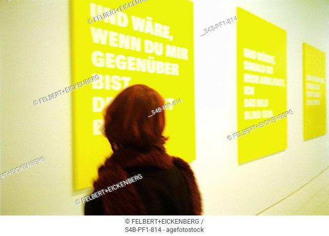 Woman in modern Exhibition