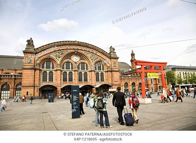 Central Train Station in Bremen, Germany