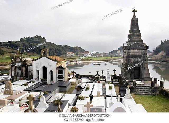 Church of Santa Maria de los Dolores and marine Cemetery, Ensenada de El Vau, between Barro and Niembro, Council of Llanes, Asturias, Spain