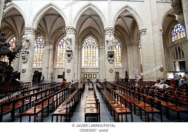 St. Michael's cathedral (aka St. Gudule's). Brussels. Belgium