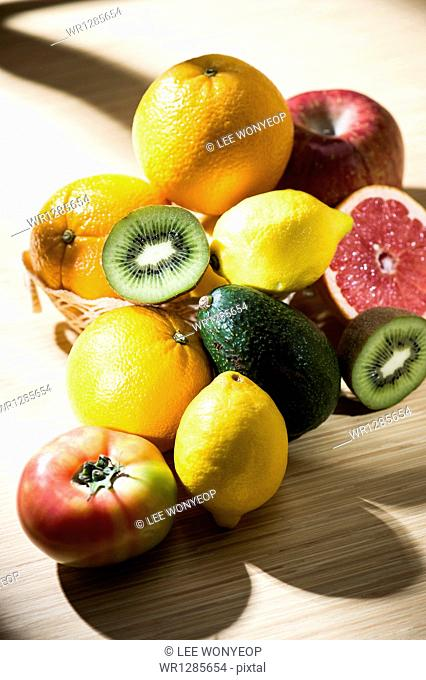 different varieties of fruits