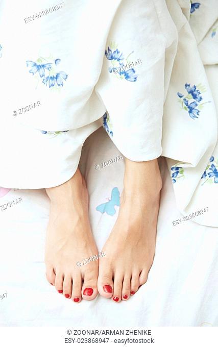 Feet of woman