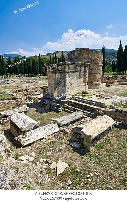 Picture of Tomb A2 of the North Necropolis. Hierapolis archaeological site near Pamukkale in Turkey
