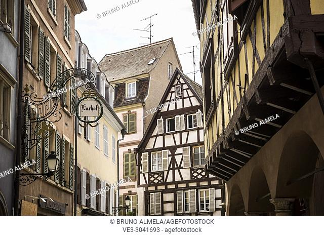 Medieval houses of Colmar, Alsace (department of Haut-Rhin, region of Grand Est, France)