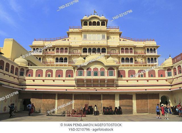Chandra Mahal, City Palace, Jaipur, Rajasthan, India