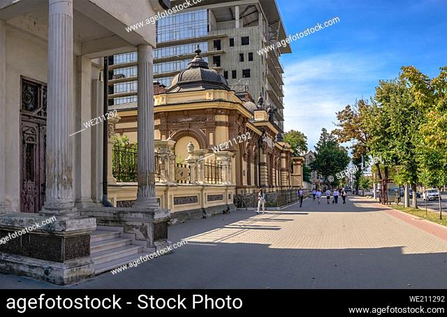 National Art Museum in Moldova. Hertz House in Chisinau on a sunny autumn day
