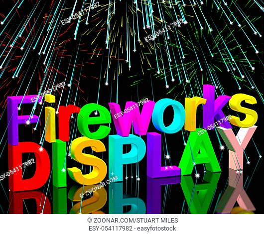 Exploding Fireworks Display For New Years Or Independence Celebration